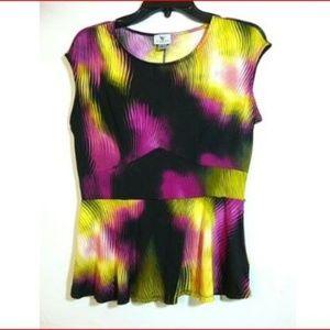 Worthington Multi-color Sleeveless Pullover Blouse